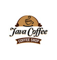 java coffee classic logo sign symbol icon vector image vector image