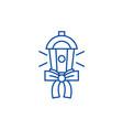 lantern gift line icon concept lantern gift flat vector image