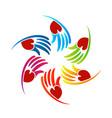 loving caring hands logo vector image vector image