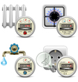 Meter Icons vector image vector image