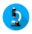 Microscope flat circle icon vector image vector image