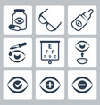 optometry icons set vector image vector image