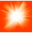 Orange color burst vector image