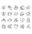 people icons set included icon as freezing click vector image vector image