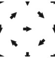 pointer pattern seamless black vector image vector image