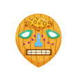 prehistoric round african mask with toothy scary vector image vector image