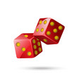 red poker dice - modern isolated object vector image vector image