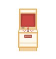 retro game machine flat vector image