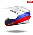 Russia Flag on Motorcycle Helmets vector image vector image