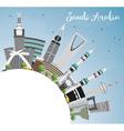 Saudi Arabia Skyline with Landmarks Blue Sky vector image vector image