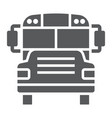 school bus glyph icon school and education vector image