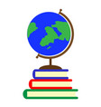 school globe and textbooks vector image vector image