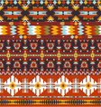 Seamless colorful abstract geometric aztec pattern vector image vector image