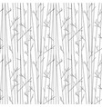seamless pattern with trees without leaves vector image vector image