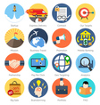 Set of colorful icons in modern flat design for vector image vector image