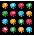 Set of educational icons on globe design vector image