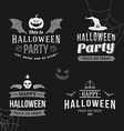 set retro vintage halloween badges black and vector image