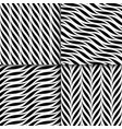 set seamless wavy patterns weave vector image vector image