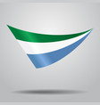 sierra leone flag background vector image vector image