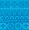 soft blue native american ethnic pattern vector image vector image