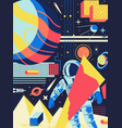 space abstract background futuristic psychedelic vector image