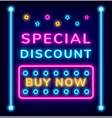 special discount buy on sale caption promotion vector image vector image