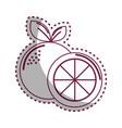 sticker silhouette orange fruit icon stock vector image vector image
