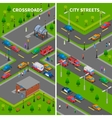 Street Traffic Isometric Vertical Banners vector image vector image