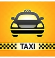 taxi cab symbol on background pixel pattern vector image vector image