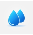 Water drops icon or logo vector image vector image