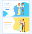 wedding planning and celebration websites set vector image vector image