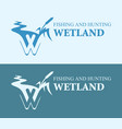 wetland cattail on bright and blue background vector image vector image