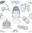 hand drawn thai pattern vector image