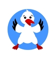 Stork Cartoon bird isolated vector image