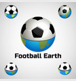 football earth logo for the team and the cup vector image