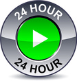 24 hour round button vector image vector image