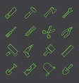 A tool icon set vector image