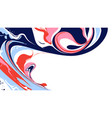 abstract ink marbling background vector image