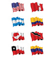 Americas flags vector | Price: 1 Credit (USD $1)
