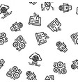 artificial intelligence seamless pattern vector image vector image