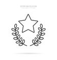 Awards icons isolated with shadow in linear style vector image vector image
