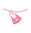 baby girl bib shower clothes cute icon vector image