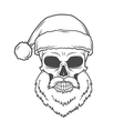 Bad Santa Claus biker poster Heavy metal vector image vector image