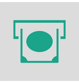 Banknote sliding from atm slot icon vector image vector image