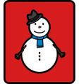 basic snowman vector image vector image