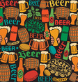 Beer pattern design vector image vector image