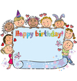 Birthday kids vector image vector image