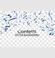 blue confetti background vector image