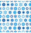 blue star of david symbols collection vector image