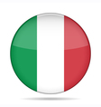 button with flag of Italy vector image vector image